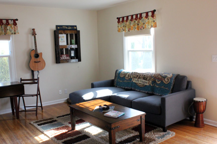 It's important to capture the best aspects of your home. I love our natural light and new sectional sofa . Cozy, right?